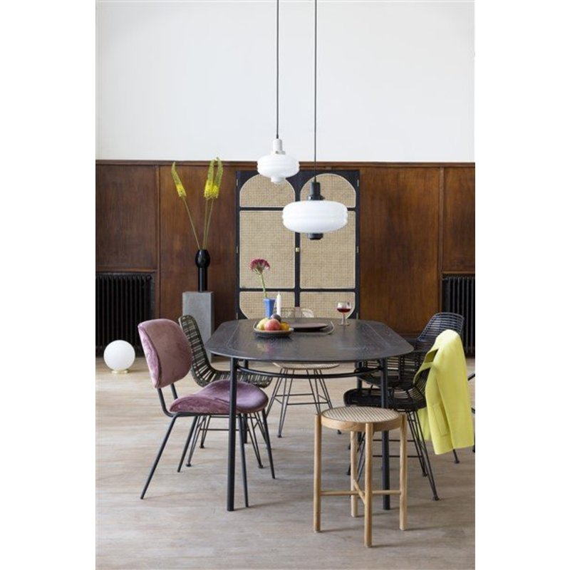 HK living-collectie white glass ball lamp M