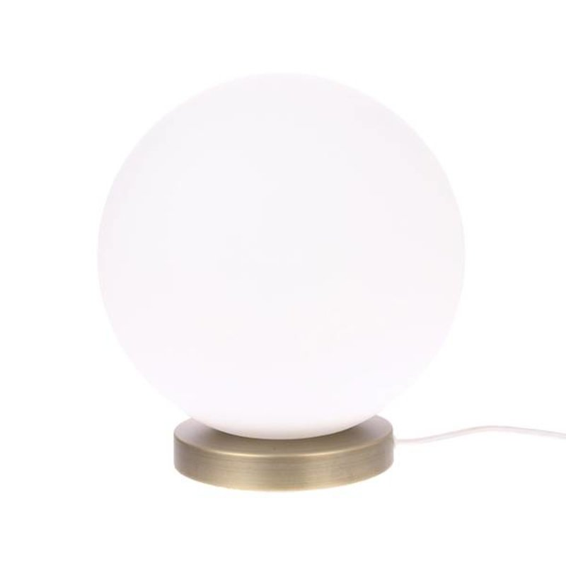 HKliving-collectie Glazen bol lamp wit L