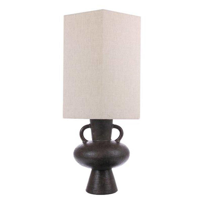 HK living-collectie stoneware lampbase charcoal L