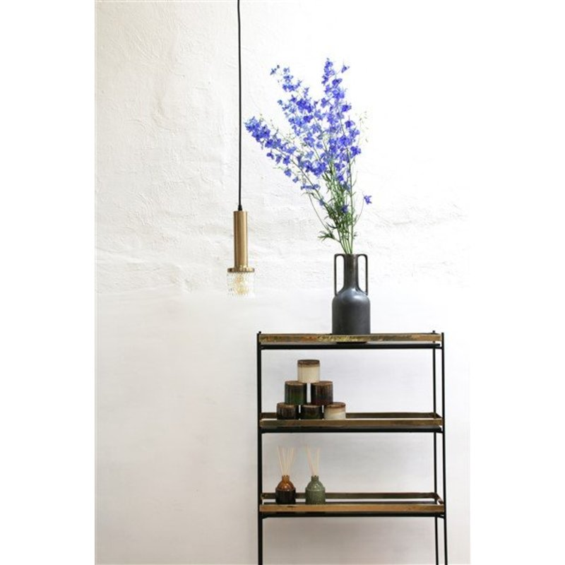 HKliving-collectie brass/glass pendle lamp