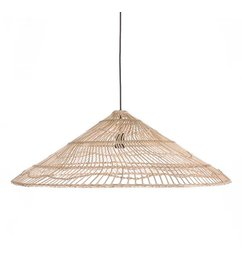 HK living  wicker hanging lamp triangle natural L