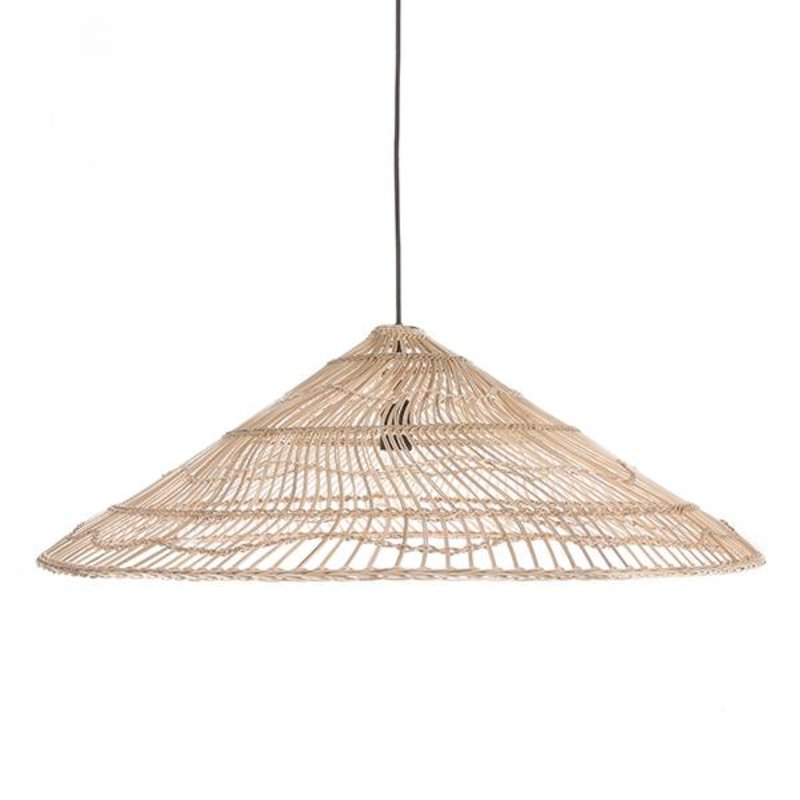 HKliving-collectie wicker hanging lamp triangle natural L
