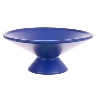 HKliving fruit bowl on base matt cobalt