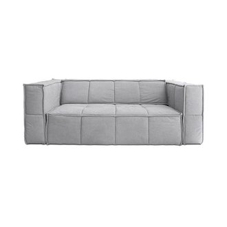 HK living cube couch: 3-seats, canvas, light grey