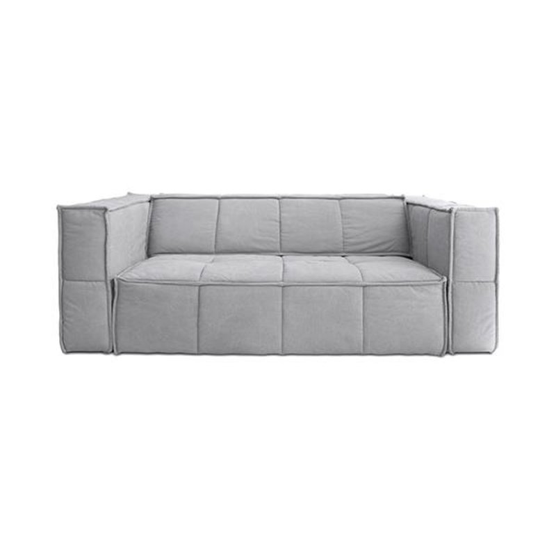 HK living-collectie cube couch: 3-seats, canvas, light grey