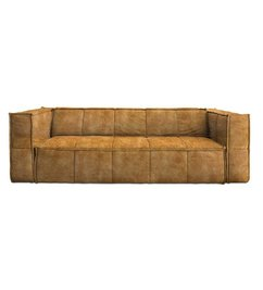 HK living  cube couch: 4-seats, vintage velvet, mustard yellow