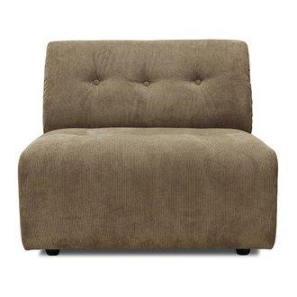 HKliving vint couch: element B, corduroy rib, brown