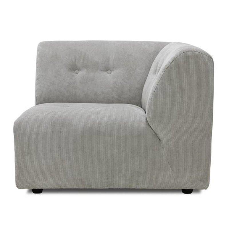 HK living-collectie vint couch: element C, corduroy rib, crème