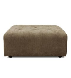 HK living-collectie vint couch: element hocker, corduroy rib, brown