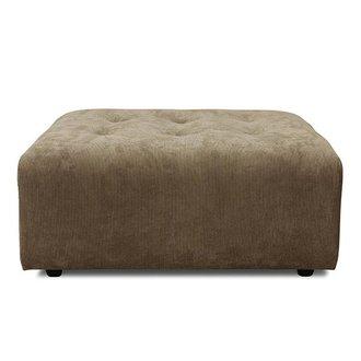 HK living vint couch: element hocker, corduroy rib, brown