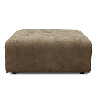 HKliving vint couch: element hocker, corduroy rib, brown
