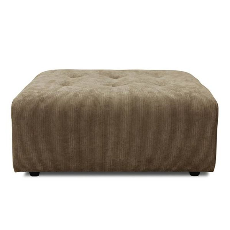 HKliving-collectie vint couch: element hocker, corduroy rib, brown
