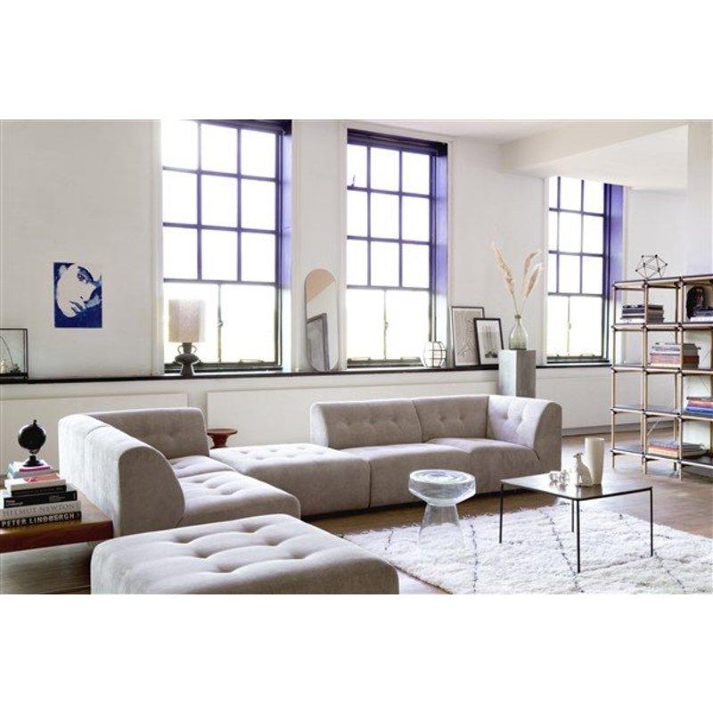 HK living-collectie vint couch: element hocker, corduroy rib, crème