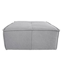 HK living-collectie cube couch: hocker, canvas, light grey