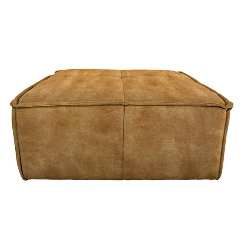 HKliving-collectie cube couch: hocker, vintage velvet, mustard yellow