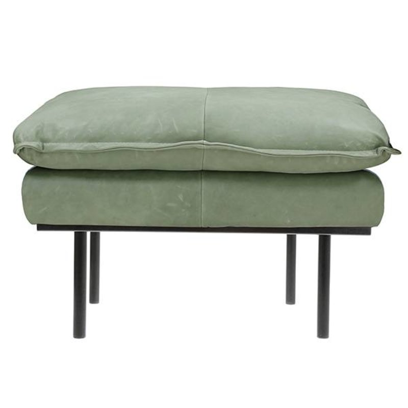 HKliving-collectie retro sofa: hocker, leather, mint green