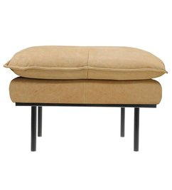 HK living  Hocker retro sofa leer naturel