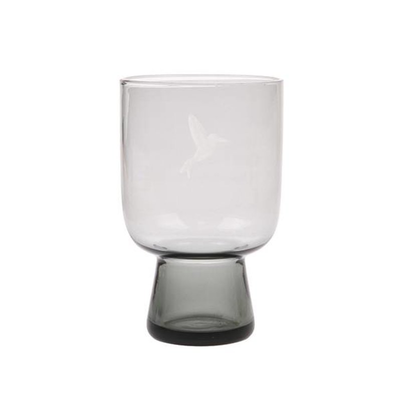 HK living-collectie smoked grey glass L engraved