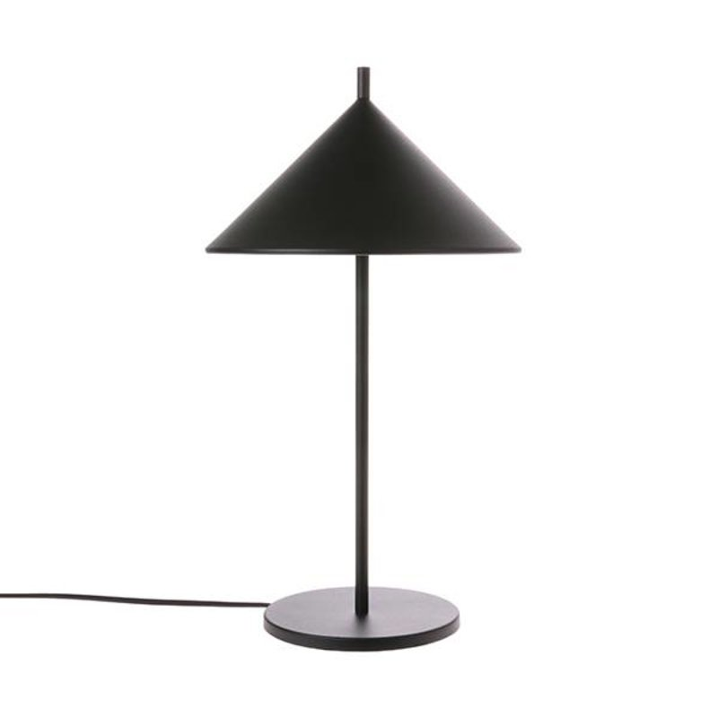 HK living-collectie metal triangle table lamp black