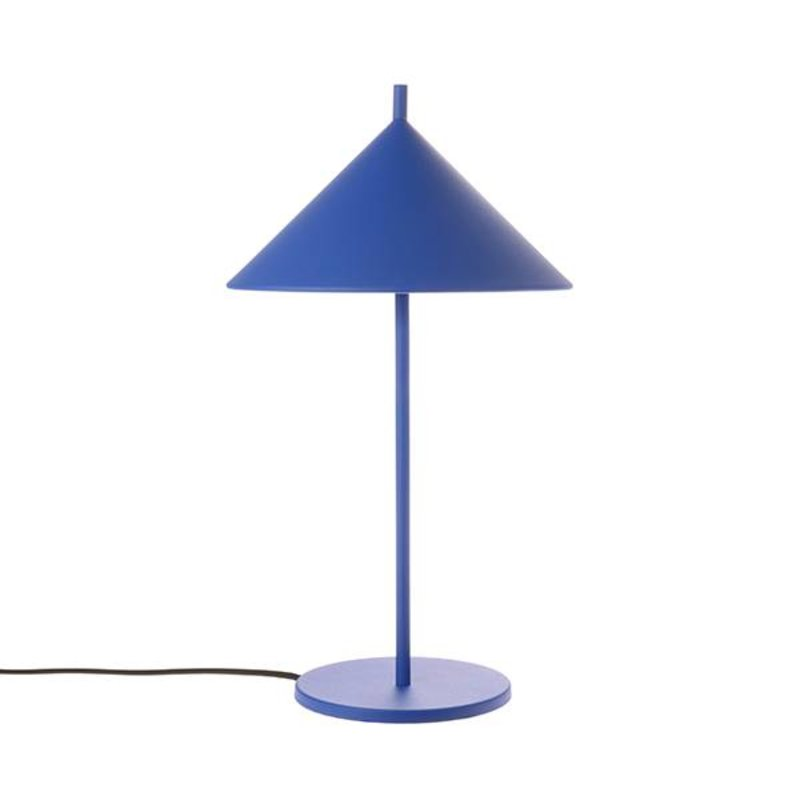 HKliving-collectie metal triangle table lamp cobalt