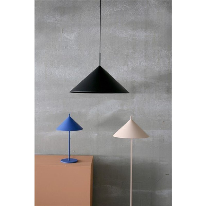 HK living-collectie metal triangle table lamp cobalt