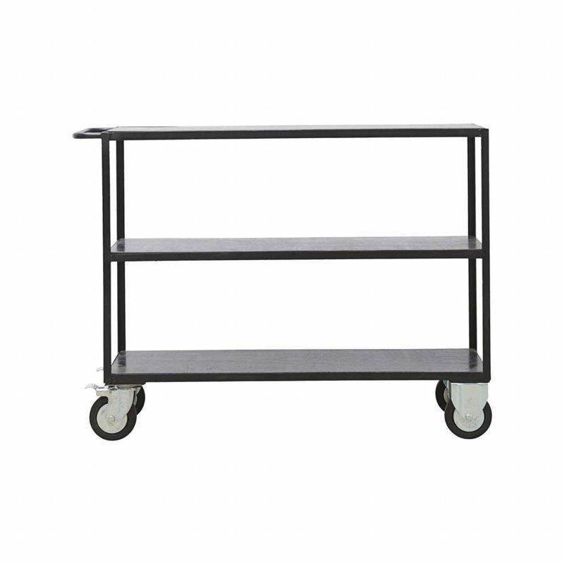 House Doctor-collectie Zwart metalen trolley
