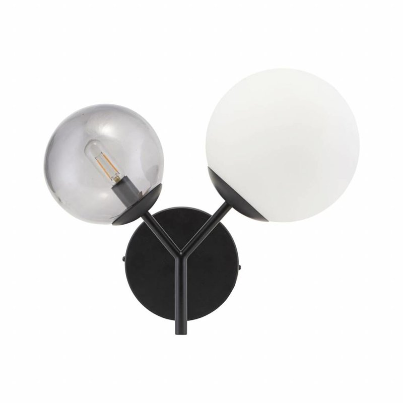 House Doctor-collectie Wandlamp Twice zwart