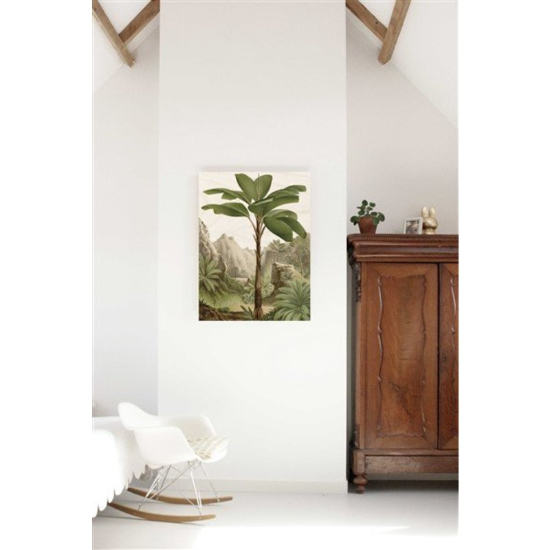 KEK Amsterdam-collectie Wood print Banana Tree L