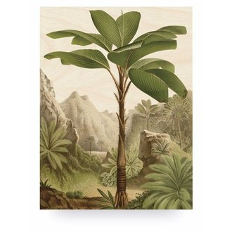 KEK Amsterdam Wood print Banana Tree L