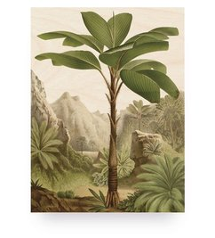 KEK Amsterdam-collectie Wood print Banana Tree M