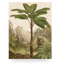 KEK Amsterdam-collectie Wood print Banana Tree S