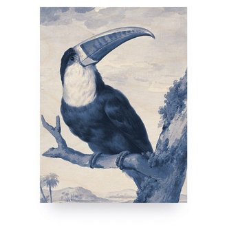 KEK Amsterdam Wood print Royal Blue Toucan M