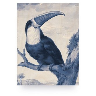 KEK Amsterdam Wood print Royal Blue Toucan S