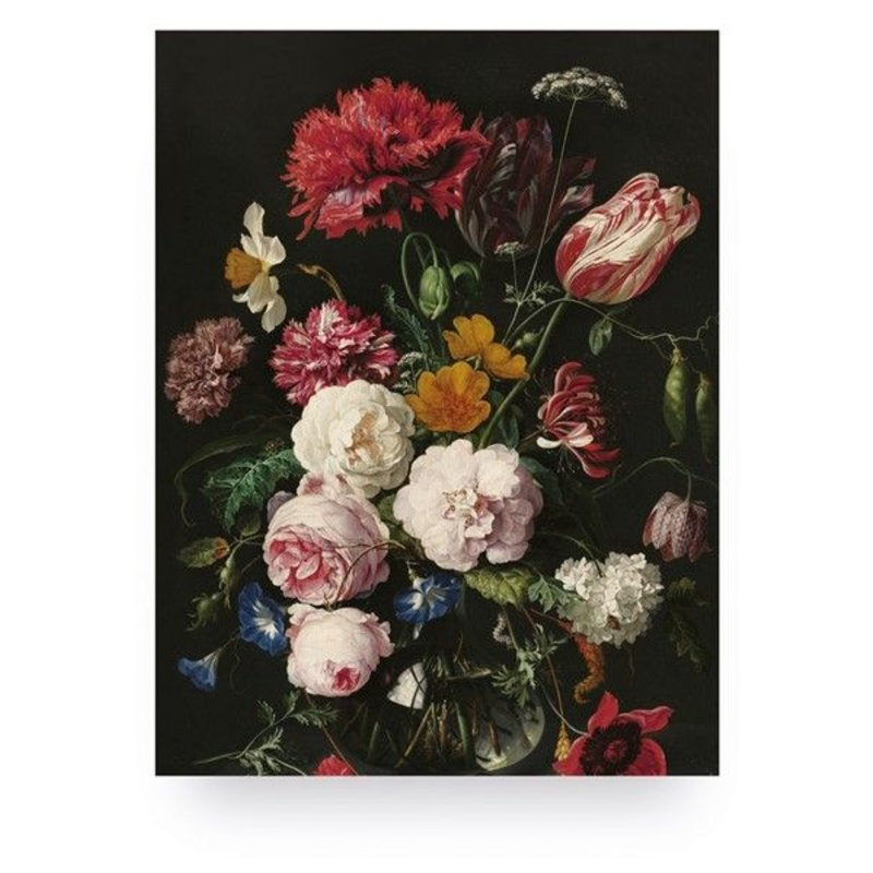 KEK Amsterdam-collectie Print op hout Golden Age Flowers 2 S