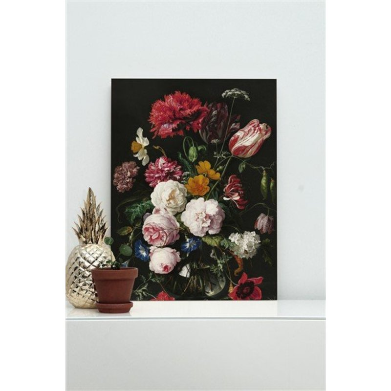 KEK Amsterdam-collectie Wood print Golden Age Flowers 2 S