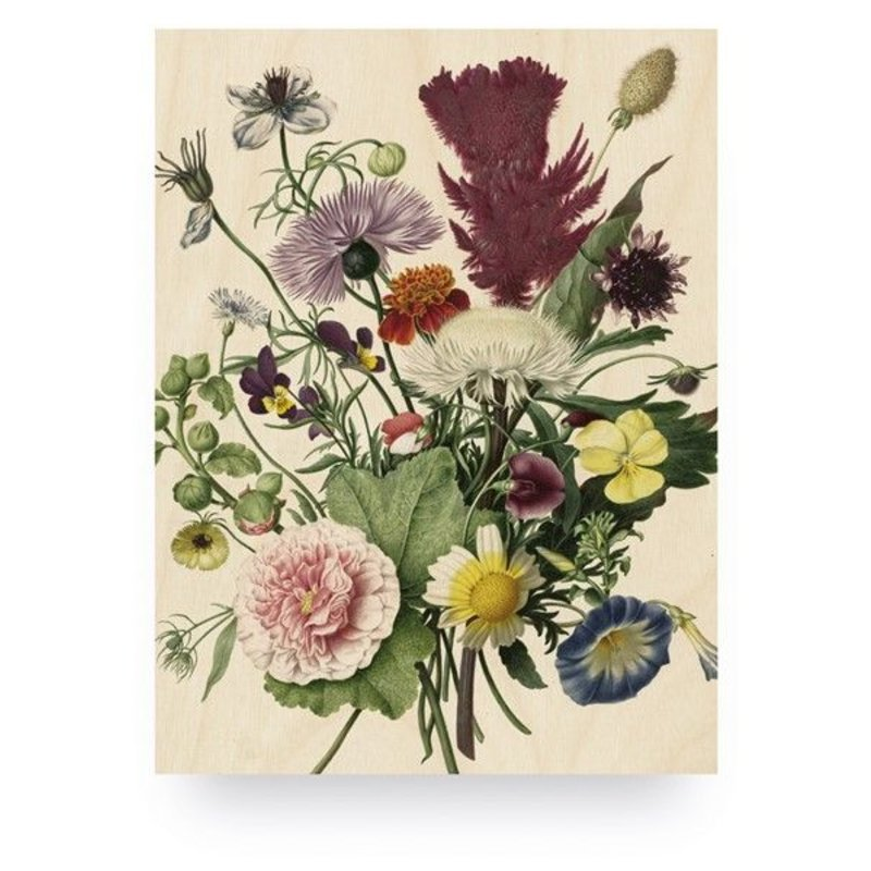 KEK Amsterdam-collectie Wood print Wild Flowers S