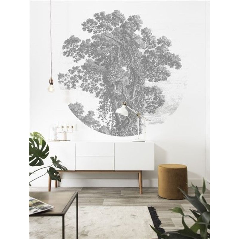 KEK Amsterdam-collectie Wallpaper Circle Engraved Tree
