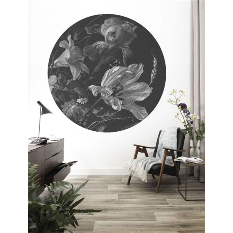 KEK Amsterdam-collectie Wallpaper Circle Golden Age Flowers