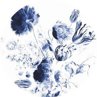 KEK Amsterdam Behangcirkel Royal Blue Flowers
