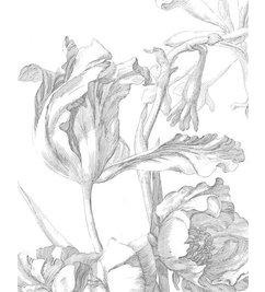 KEK Amsterdam-collectie Wallpaper Panel Engraved Flowers