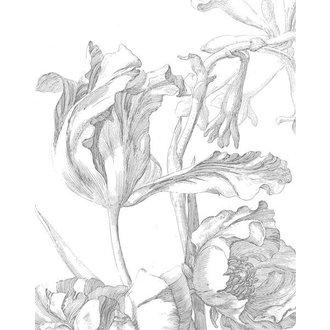 KEK Amsterdam Wallpaper Panel Engraved Flowers