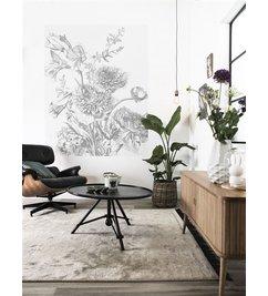 KEK Amsterdam-collectie Behangpaneel Engraved Flowers