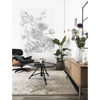 KEK Amsterdam Wallpaper Panel Engraved Flowers
