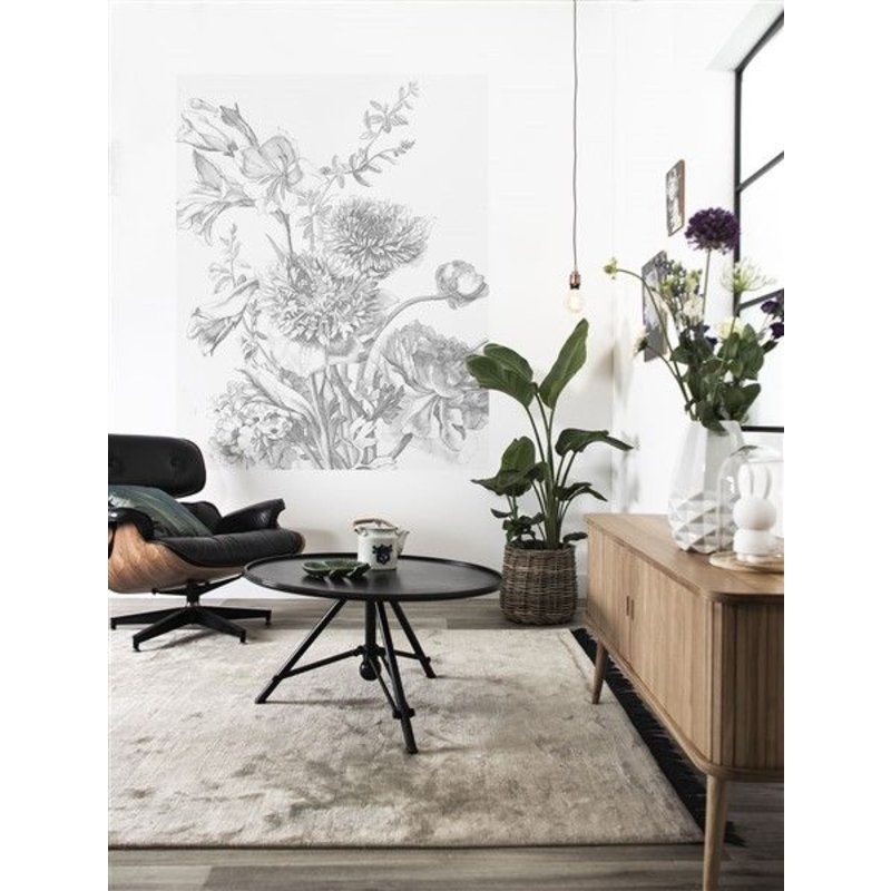 KEK Amsterdam-collectie Wallpaper Panel Engraved Flowers
