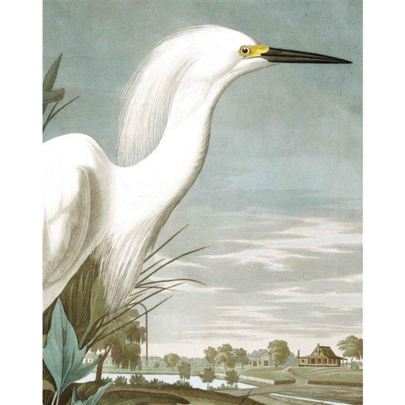 KEK Amsterdam-collectie KEK Amsterdam Behangpaneel Snowy Heron