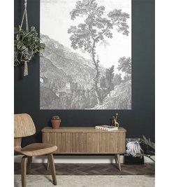 KEK Amsterdam-collectie Wallpaper Panel Engraved Tree