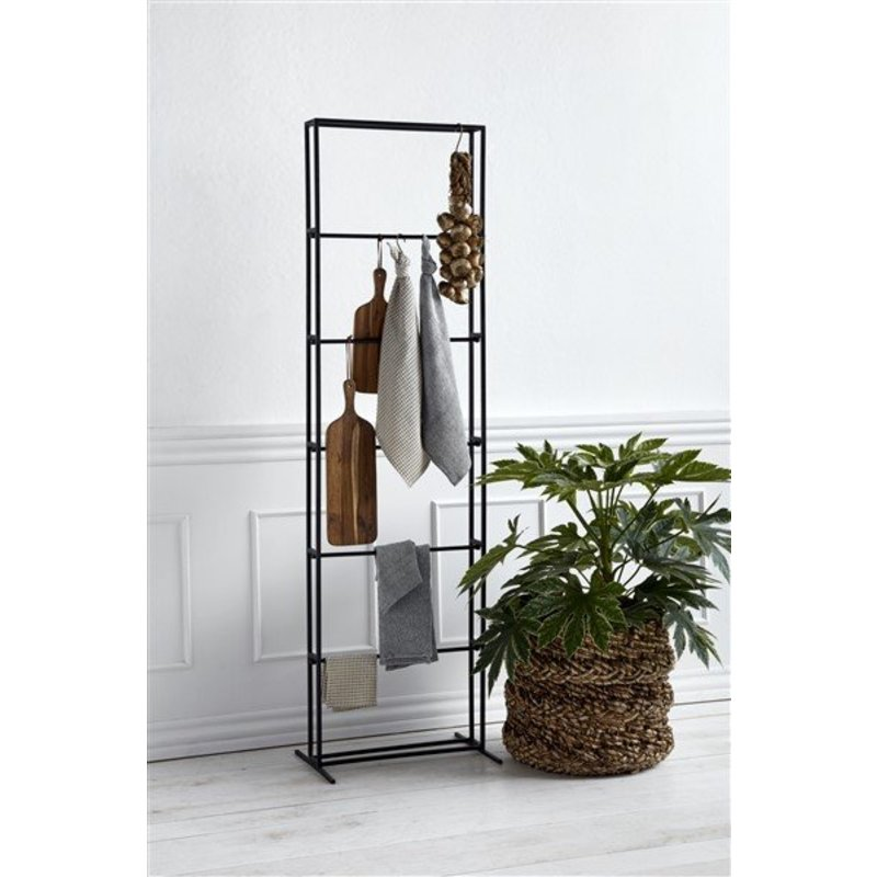 Nordal-collectie Metalen kledingrek zwart
