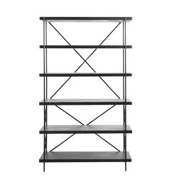 Nordal Shelf in black wood w. 5 tiers