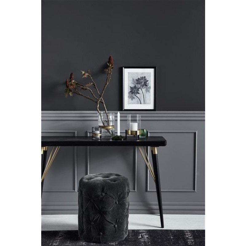 Nordal-collectie Nordal Sidetable zwart hout