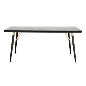 Nordal Dining table, black wood